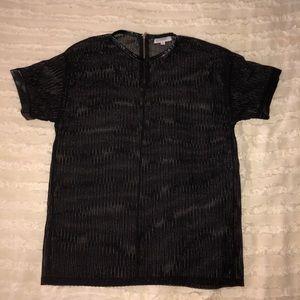 Umgee Black Mesh Top M